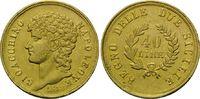 40 Lire 1813 Italien: Neapel, Joachim Mura...