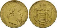 20 Francs 1879, Monaco, Charles III., 1856...