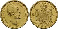 10 Kronen 1874, Schweden, Oskar II., 1872-...