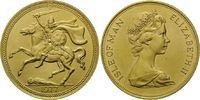 5 Pounds 1977, Isle of Man, Wikinger zu Pf...