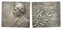 Versilb. Bronze-Plakette 1906 Musik, SAUER...