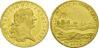 Rheingold-Dukat 1764 S, Pfalz, Kurlinie Sulzbach, Karl Theodor, 1743-1799, selten, feine Kr., f.vz