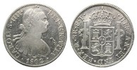 8 Reales 1802 FT Mo Mexiko, Karl IV., 1788...