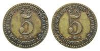 Messing-Notgeld zu 5 (Pfennig) o.J. Karlsr...