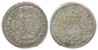 1/12 Taler 1693 1693, Sachsen, Johann Geor...