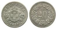 20 Rappen 1850, Schweiz, Bundesstaat, seit...
