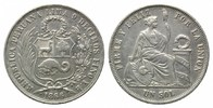 Sol 1866 Peru, Republik, seit 1821, ss-vz