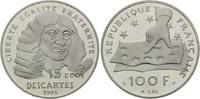 100 Francs = 15 Ecus 1991 Frankreich, Bede...