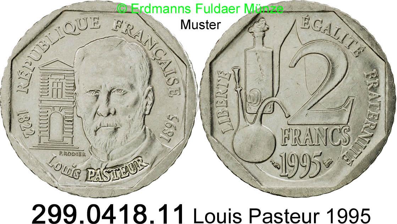 ca FRANCE 2 francs PASTEUR 1995