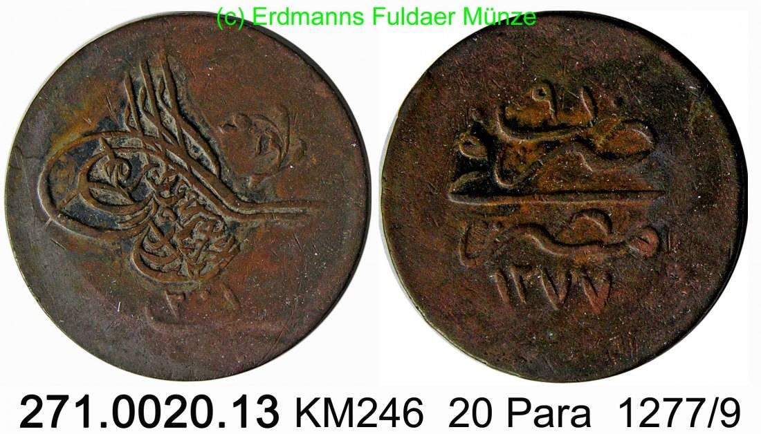20 Para 1277 /9 Egypt Ägypten KM246 . 271.0020.13 -ss
