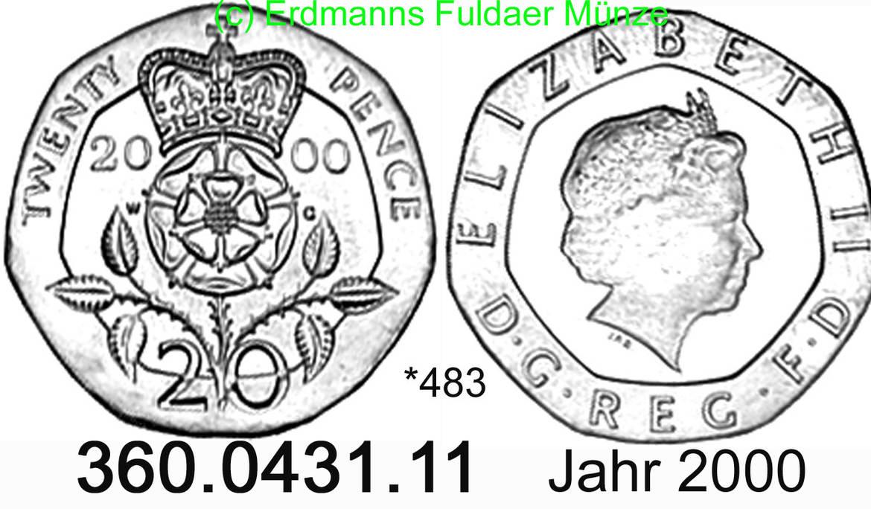 20 pence 2000 great britain gro u00dfbritannien  483 km990