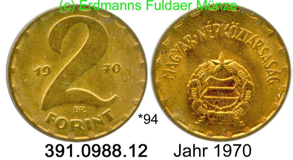 2 Forint 1970 Hungary Ungarn 94 Ef