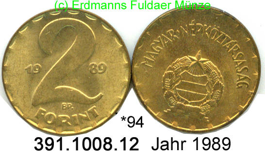2 Forint 1989 Hungary Ungarn 94 Ef