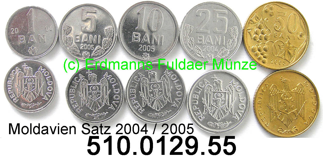15102550 Bani 2004 2005 Moldavia Moldova Moldawien 1234