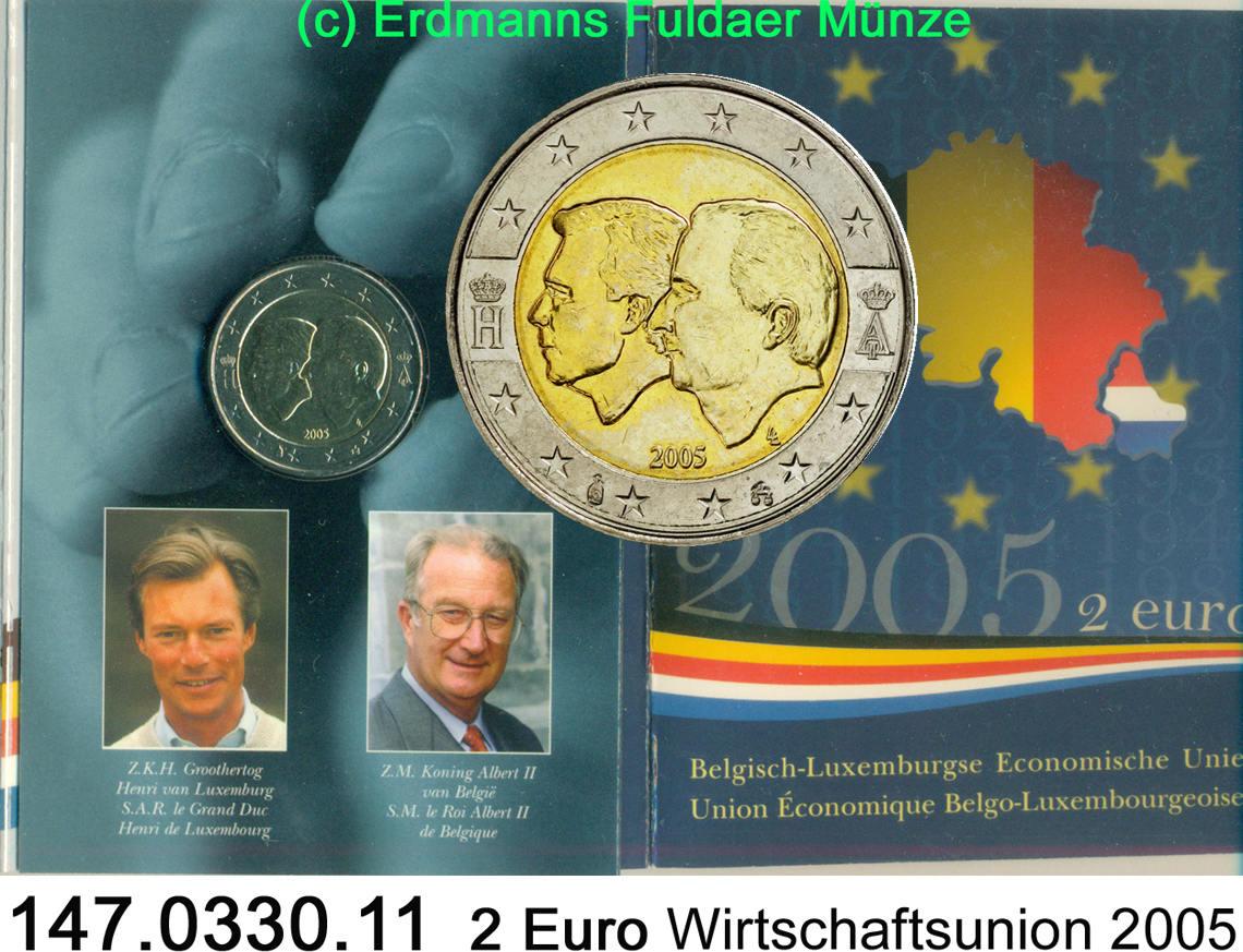 2 Euro 2005 Belgien Wirtschaftsunion Belgien Nl 147033011 Spl