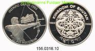 300 Ngultrum 1992 Bhutan *53 Oly´92 Bogenschütze . PP  43,75 EUR  +  8,95 EUR shipping