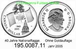 1 Dollar 2005 Canada Kanada  . *615.1 ohne Goldauflage Nationalflagge BU  34,50 EUR  +  8,95 EUR shipping