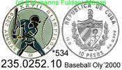 10 Pesos 1997 Cuba Kuba  . *534 Oly´2000 Baseball Farbmünze PP  39,75 EUR  +  8,95 EUR shipping