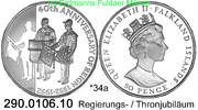 50 Pence 1992 Falkland *34a KM34a . *34a ex*48a KM34a PP  39,75 EUR  +  8,95 EUR shipping