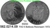 5 Balboas 1972 Panama *31 KM30 FAO Reisrispen -PP  47,45 EUR  +  8,95 EUR shipping