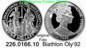 50 Dollars 1989 Cook Islands Cook Inseln *90 KM60 Oly´92 Biathlon . 226... 29,50 EUR  +  8,95 EUR shipping