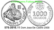 1000 Escudos 2000 Portugal *236 Dom Joao De Castro unc  22,00 EUR  +  8,95 EUR shipping