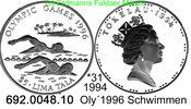 5 Tala 1994 Tokelau Islands Tokelau Inseln *31 KM19 Oly´96 Schwimmer PP  37,75 EUR  +  8,95 EUR shipping