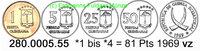 81 Pesetas 1969 Equatorial Guinea Äquatorialguinea *1 bis *4 Kursmünzen... 24,00 EUR  +  8,95 EUR shipping
