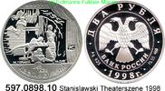 2 Rubel 1998 Russland *579 KMY610 Stanislawsky Theaterszene . 597.0898.... 23,75 EUR  +  8,95 EUR shipping