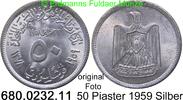 50 Piaster 1959 Syrien *25 KM89 VAR unc