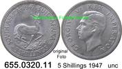 5 Shillings 1947 Südafrika South Africa *43 KM31 Königlicher Besuch unc  24,75 EUR  +  8,95 EUR shipping