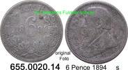 6 Pence 1894 Südafrika South Africa *4 KM4 s
