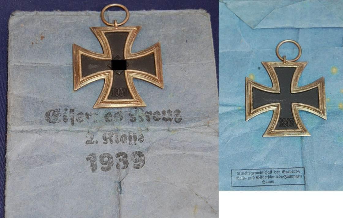 Eisernes Kreuz 2.Klasse 1942 3. Reich 3.Reich Eisernes Kreuz 2.Klasse mit  Tüte, Ring ohne Hersteller guter Zustand, | MA-Shops