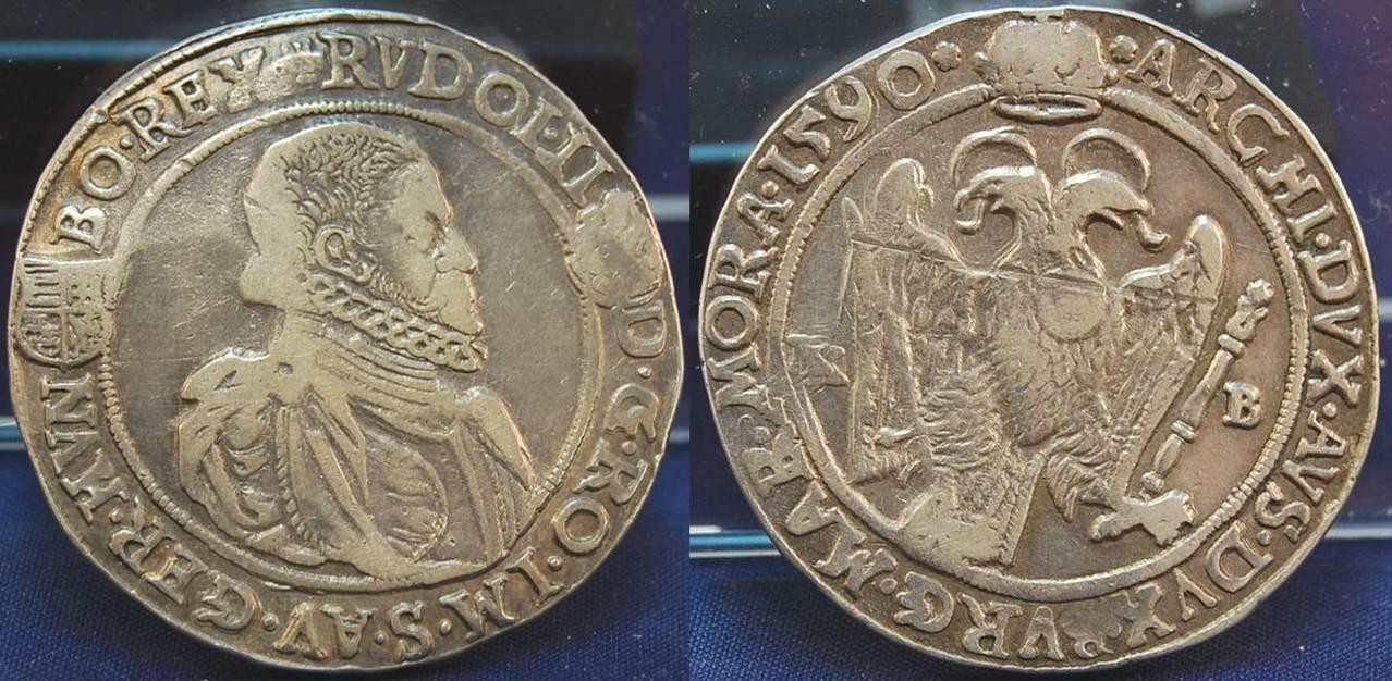 1 Taler Kremnitz 1590 Josef II. 1590 KB Deutschland / Österreich Österreich  Rudolf II. 1576-1612 , Taler 1590 KB, Kremnitz, ss schöne Patina VF schöne  ...