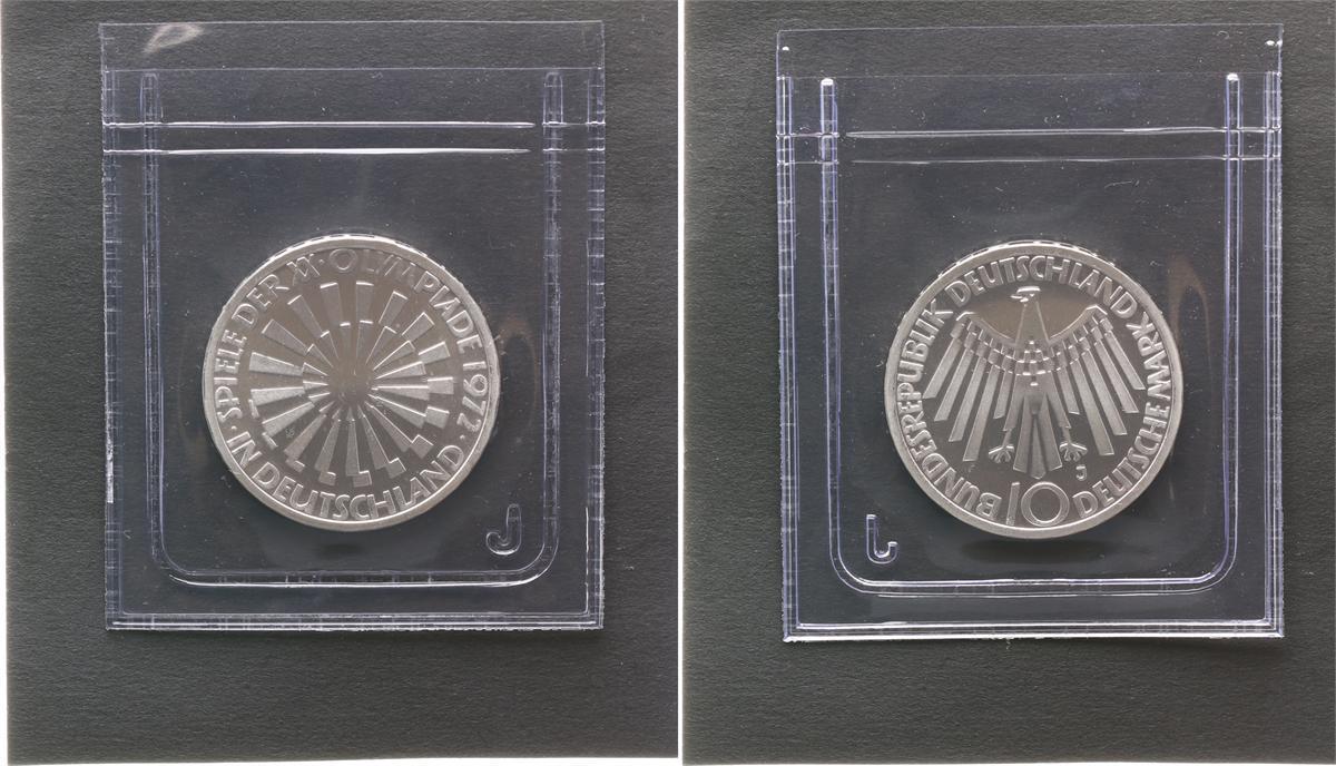 10dm Olympiade 1972 Verschweißt 1972 J Deutschland Brd 10dm