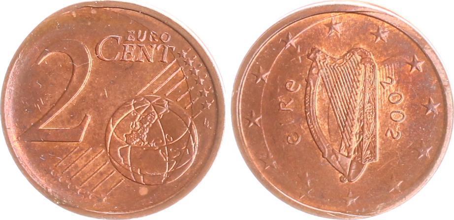 2 Cent Fehlprägung 2002 Irland Irland 2 Cent Fehlprägung 2x Geprägt