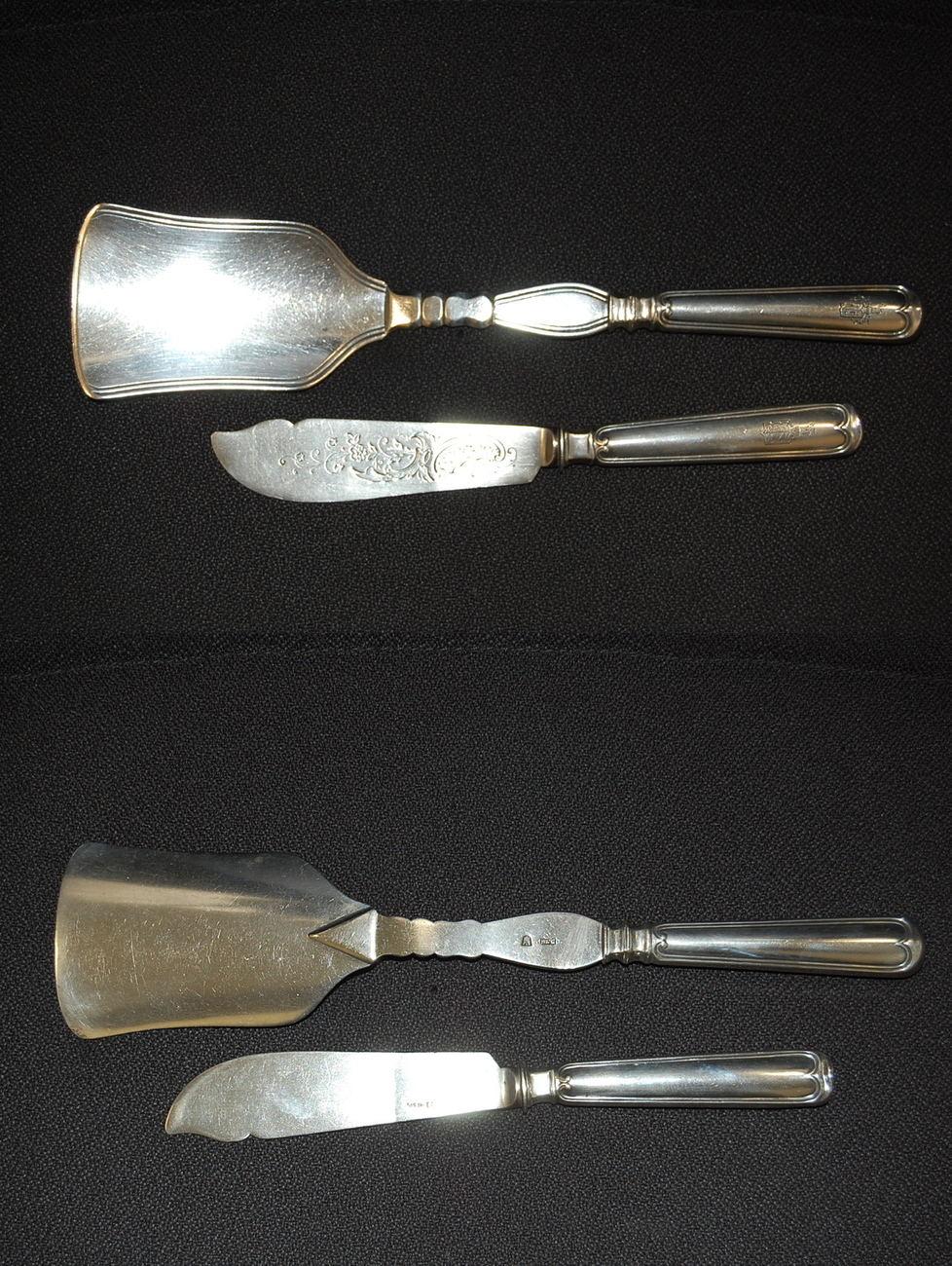 Vollsilber Vorlegebesteck Aus Silber 800 Ca 1900 Deutschland