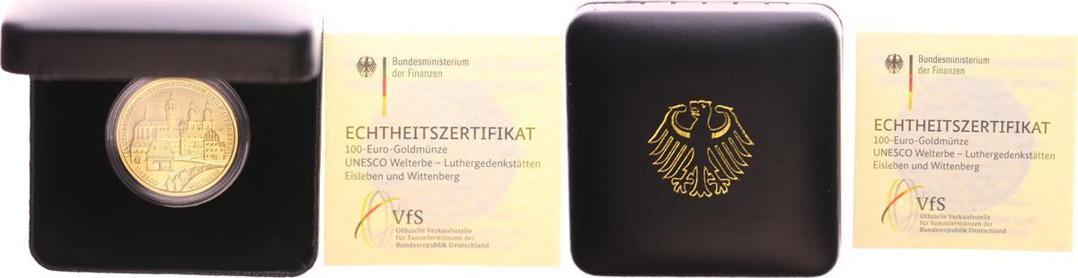 100 Euro Gold 2017 A Bundesrepublik Deutschland Bundesrepublik