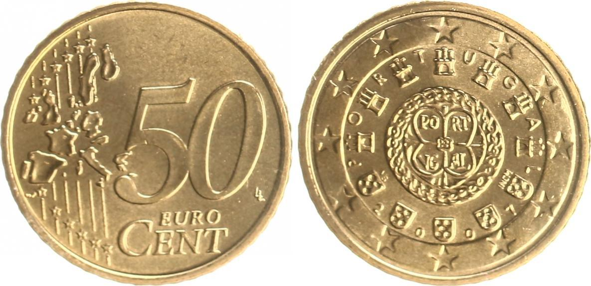 50 Cent 2007 Portugal Portugal 50 Cent Kursmünze 2007 Prägefrisch