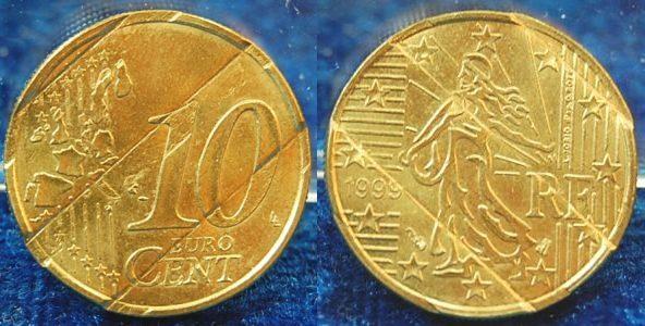 10 Cent Probe 1999 Frankreich Frankreich 10 Cent Probe 1999 Mit