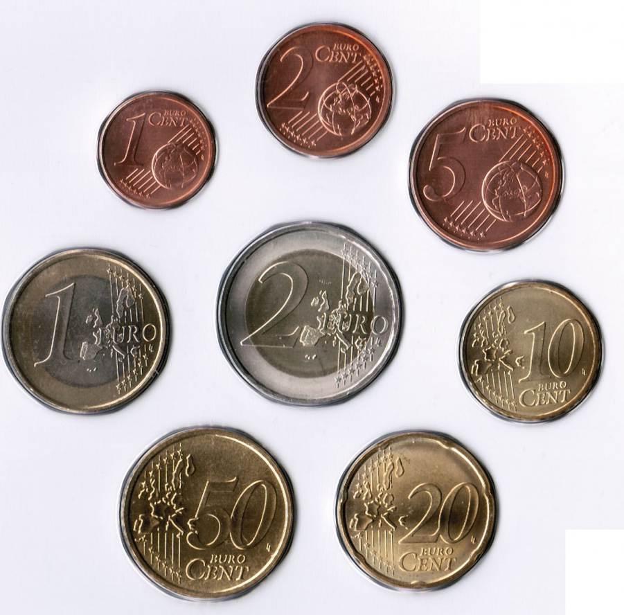 1 Cent Bis 2 Euro 2007 Slowenien Slowenien Kursmünzen 1 Cent Bis 2