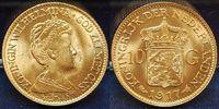 10 Gulden Gold 1917 Niederlande Niederland...