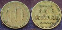10 Pf. Wertmarke Schiffsgeld SMS Schwalb c...