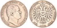 1 Vereinstaler 1862 Schwarzburg Schwarzbur...