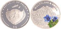2x 5 Dollar, Berge und Flora 2009 Palau Pa...