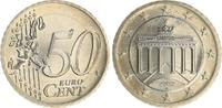 50 Cent Probe/Fehlprägung Bimetall 2002A D...