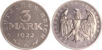3 Mark 1922 A Deutschland / Weimar / Infla...