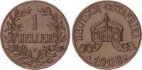 1 Heller 1908 J Kolonien Deutsch-Ostafrika...