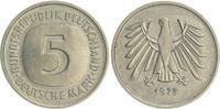 5 DM Fehlprägung/ohne Mzz 1975 Deutschland...