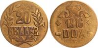 20 Heller 1916 T Kolonien / Deutsch-Ostafr...